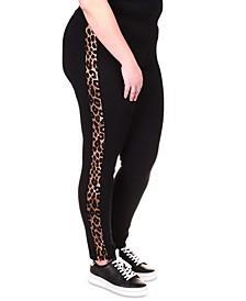 Plus Size Cheetah-Striped Leggings