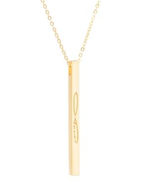 Women's Infinite Love Bar Necklace