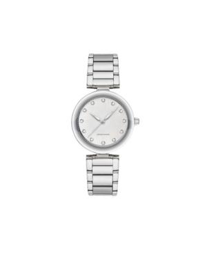 American Exchange Women's Metal Diamond Silver-Tone Stainless Steel Analog Watch