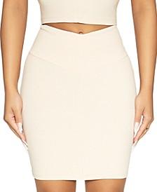 V-Waist Mini Skirt