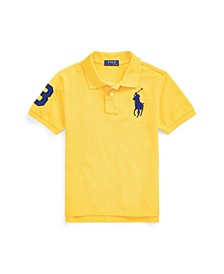 Big Boys Classic Fit Mesh Polo Shirt