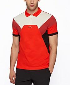 BOSS Men's Cotton-Piqué Slim-Fit Polo Shirt