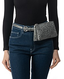 Convertible Quilted Leopard-Print Belt Bag, Created for Macy's