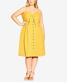 Plus Size Sweetly Tied Dress