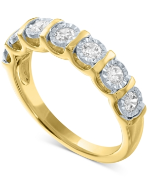 Lab-Created Diamond Band (1/2 ct. t.w.) in 14k Gold-Plated Sterling Silver