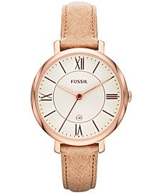 Women's Jacqueline Sand Leather Strap Watch 36mm ES3487