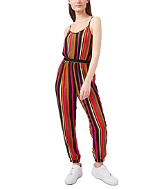 Vibrantly Striped Jumpsuit, Created for Macy's