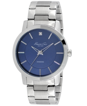 Kenneth Cole New York Men's Diamond Accent Stainless Steel Bracelet Watch 44mm KC9329