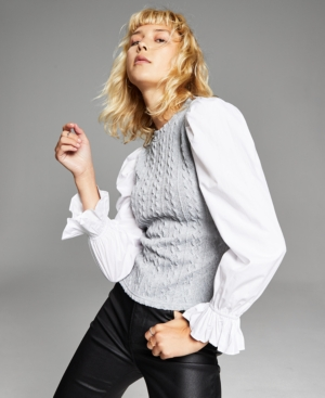 Women's Layered-Look Sweater Top