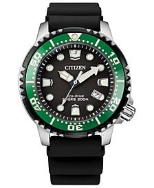 Eco-Drive Men's Professional Diver Black Strap Watch 42mm