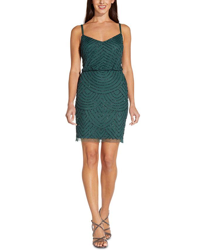 Adrianna Papell - Beaded Blouson Dress