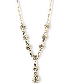 "Givenchy 16"" Crystal Y-Neck Necklace"