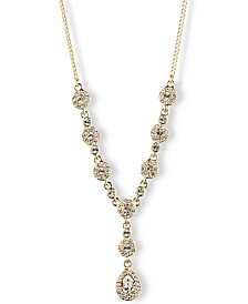 "Givenchy 16"" Crystal Y-Neck Necklace"