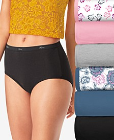 Women's 6-Pk. Assorted Floral Cool Comfort™ Brief Underwear PP40FA