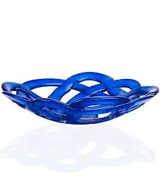 "Kosta Boda 15"" Colored Basket Bowl"