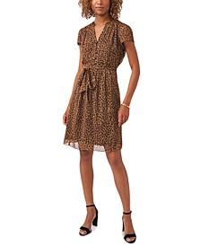 Petite Chiffon Printed Shift Dress