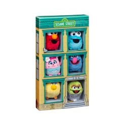 Closeout! Gund Sesame Street 50th Anniversary Miniature Plush Collector Set Elmo, Cookie Monster, Big Bird