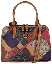 Patch Dome Satchel, Created for Macy's