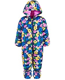 Baby Girls Floral-Print Snowsuit, Created for Macy's