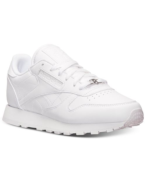 Reebok Women's Classic Leather Casual Sneakers from Finish