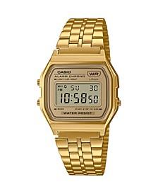 Casio Men's Vintage Gold-Tone Stainless Steel Bracelet Watch, 33.2mm