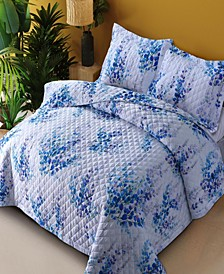 Printed 3 Piece Oversized Quilt, King