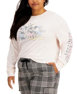 Plus Size Mickey & Friends Screen-Print Top