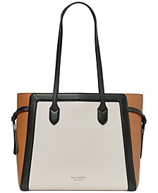 Knott Colorblocked Leather Large Tote