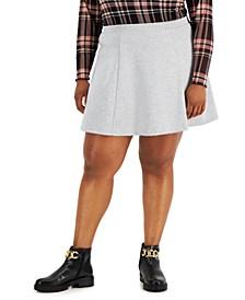 Trendy Plus Size Pull-On Flare Skirt