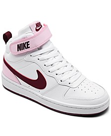 Big Girls Court Borough Mid 2 Casual Sneakers from Finish Line