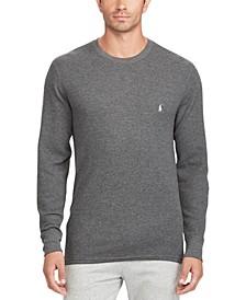 Men's Waffle-Knit Crewneck Pajama Shirt