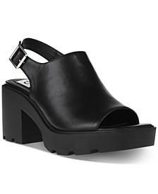 Luggy Slingback Lug-Sole Sandals