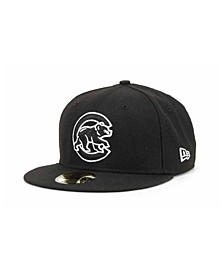 Chicago Cubs MLB Black and White Fashion 59FIFTY Cap