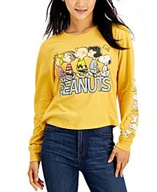 Juniors' Graphic Sleeve Screen Print Shirt