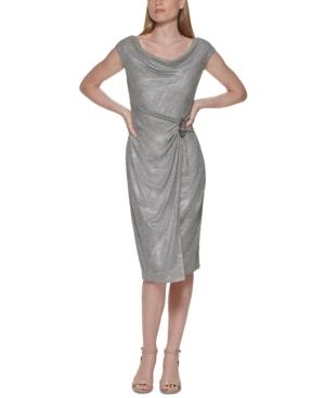 Cowlneck Sheath Dress