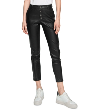 Nina Faux Leather Cropped Skinny Pants