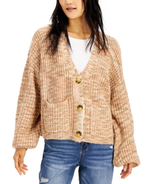 Juniors' Space-Dyed Cardigan