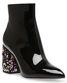Women's Kassie Beaded Heel Dress Booties