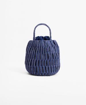 Women's Braided Bucket Bag