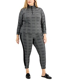 Plus Size Pullover Active Top & Joggers