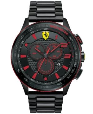 Scuderia Ferrari Men's Chronograph Scuderia Black Ion-Plated Steel Bracelet Watch 48mm 830142
