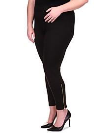 Plus Size Zip-Hem Leggings