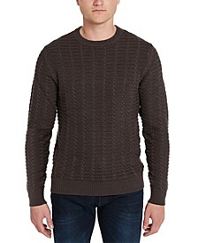 Men's Waffle Textured Weave Pullover Sweater