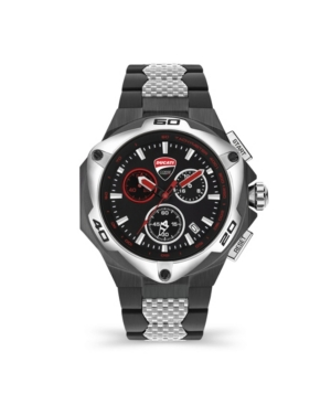 Men's Motore Chronograph Gunmetal Stainless Steel Bracelet Watch 49mm