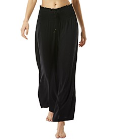 Wide-Leg Cover-Up Pants