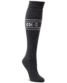 Women's Fair Isle Turn Cuff Knee Socks