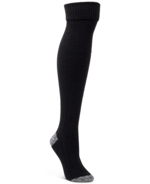 Solid Textured Over-The-Knee Socks