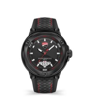 Men's Partenza Black Silicone Strap Watch 49mm