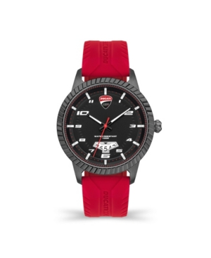 Men's Podio Red Silicone Strap Watch 44mm