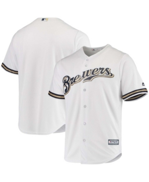 Men's White Milwaukee Brewers Home Official Cool Base Jersey